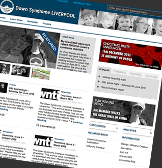 Down Syndrome Liverpool Web Design Project