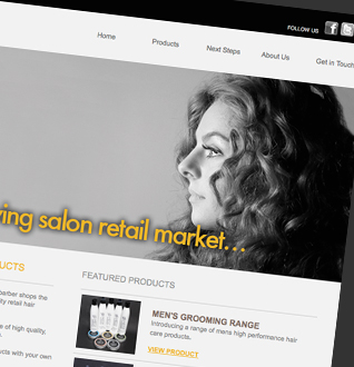 Your Brand Hair Products Web Design Project